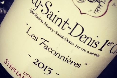 STÉPHANE MAGNIEN, MOREY SAINT DENIS 1ER CRU LES FACONNIÈRES 2013
